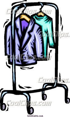 Clothing Rack Clipart.