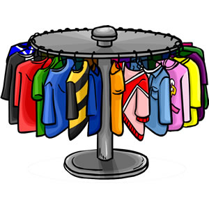 Clipart Clothes Rack.