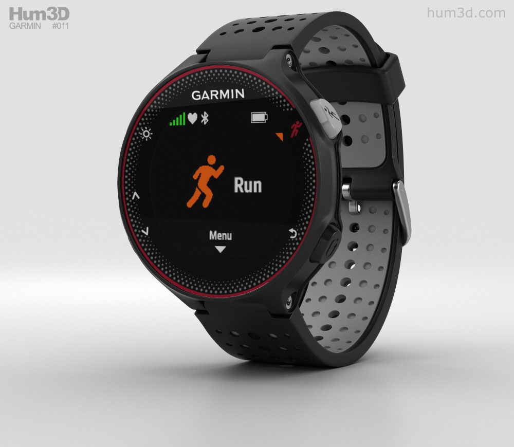 Garmin Forerunner 235 Black and Gray 3D model.