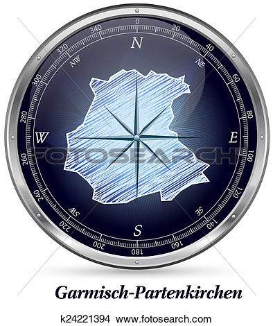 Drawings of Map of Garmisch.