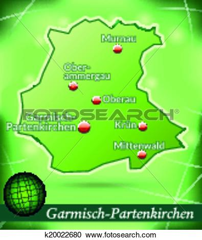 Clipart of Map of Garmisch.