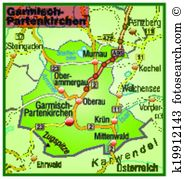 Garmisch partenkirchen map Clip Art Royalty Free. 14 garmisch.