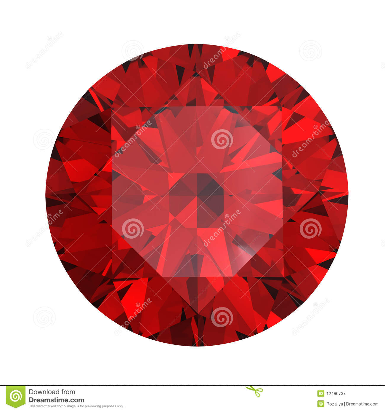 Garnet Gems Royalty Free Stock Image.