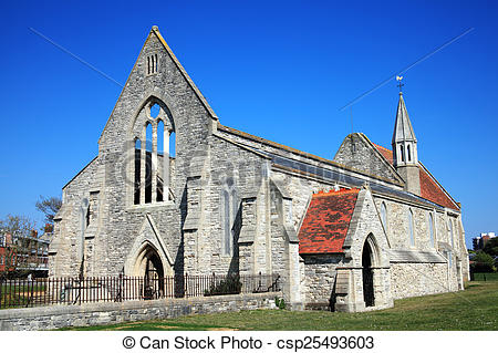 Stock Photography of Royal Garrison Church, Portsmouth.