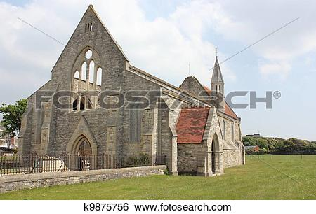 Stock Images of Old Garrison church,portsmouth k9875756.