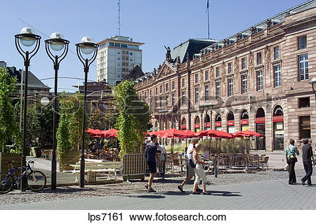 Stock Photography of place kleber square with aubette former.
