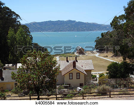 Stock Photo of Camp Reynolds (West Garrison) on Angel Island.