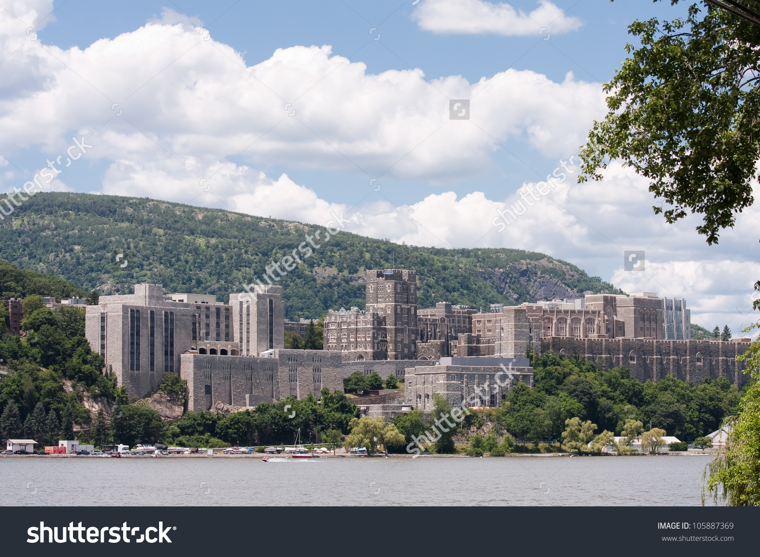 West Point Military Academy Taken Across Stock Photo 105887369.