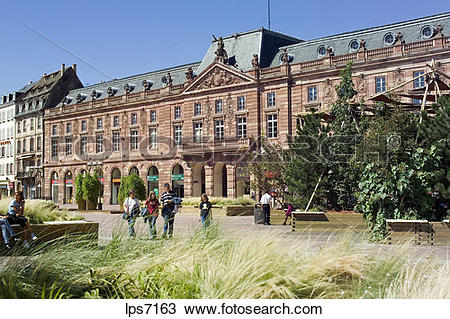 Stock Photo of place kleber square with aubette former garrison.