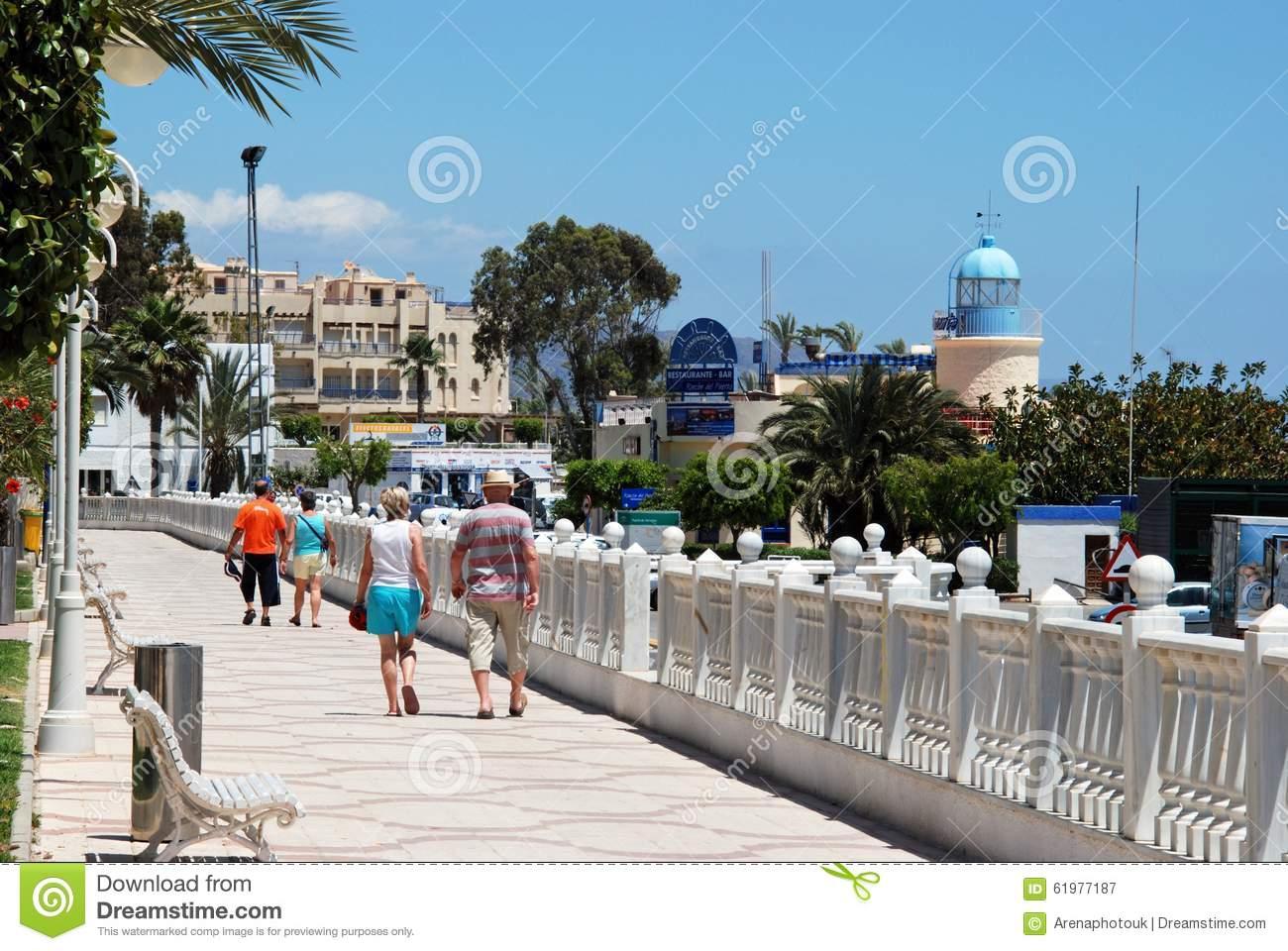 Garrucha Promenade, Spain. Editorial Photography.