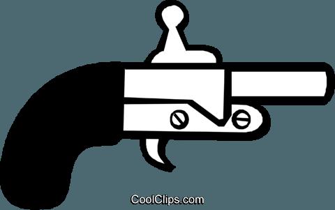 arma garrucha livre de direitos Vetores Clip Art ilustração.