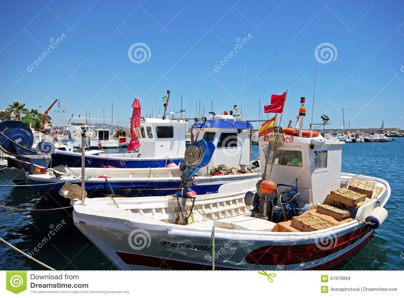 Garrucha Harbour, Spain. Editorial Stock Photo.