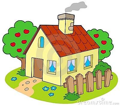 Haus mit garten  Garten haus clipart - Clipground