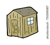 Blue And White Shed Clipart.