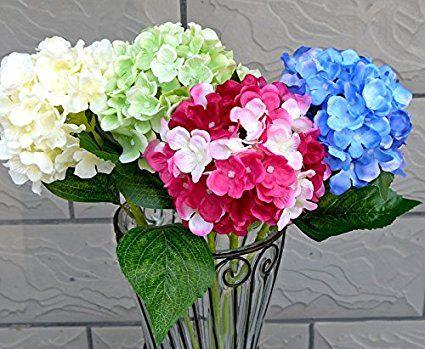 Calcifer 3 PCS 54 cm Gartenhortensie Künstliche Blumen.