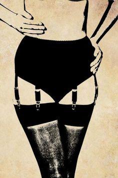 black stockings garter belt womens legs png clip art.
