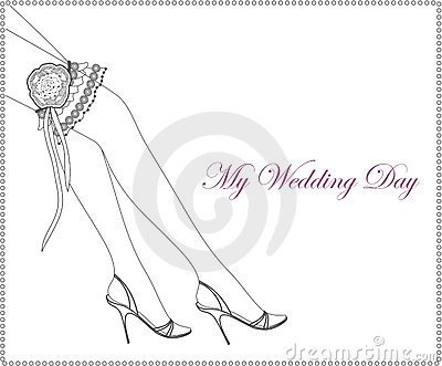 Wedding Garter Stock Illustrations.