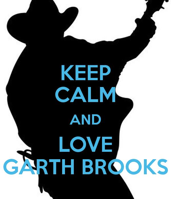 KEEP CALM AND LOVE GARTH BROOKS Poster.