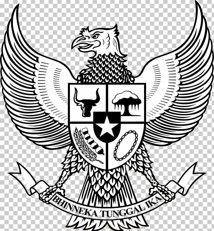 National Emblem Of Indonesia Pancasila Garuda Symbol PNG.