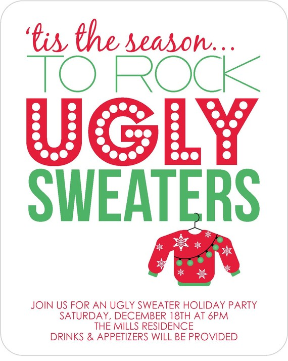 Clip Art Ugly Christmas Sweater Party Clipart.