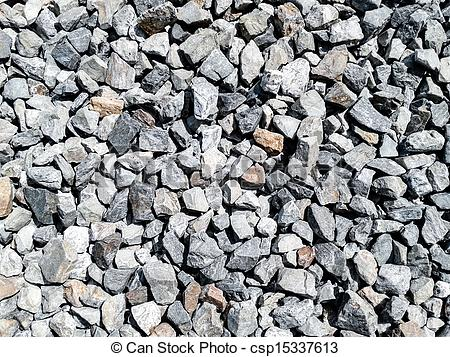 Stock Photography of rock pieces crushed gravel texture.
