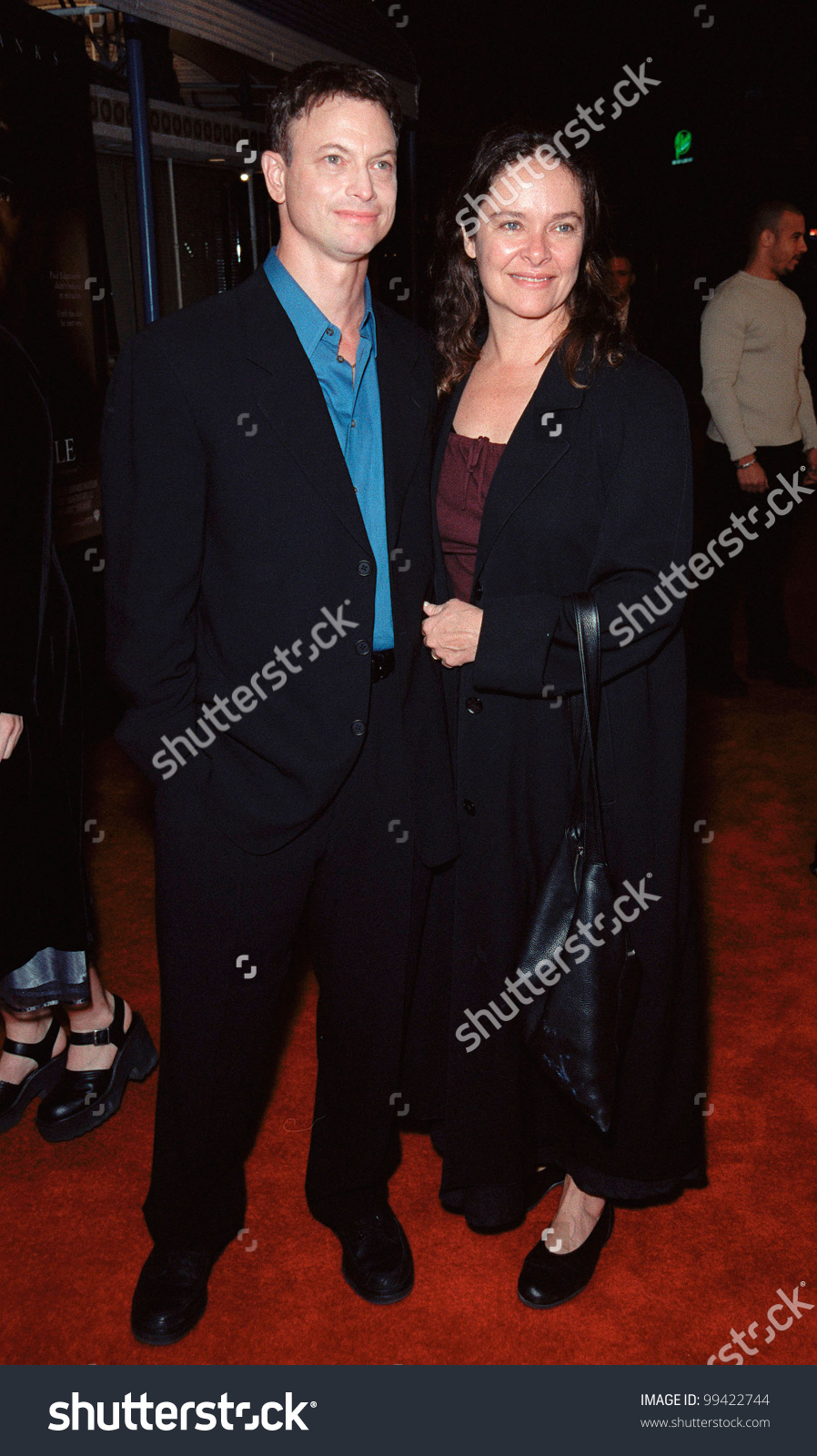 06dec99 Actor Gary Sinise Wife World Stock Photo 99422744.