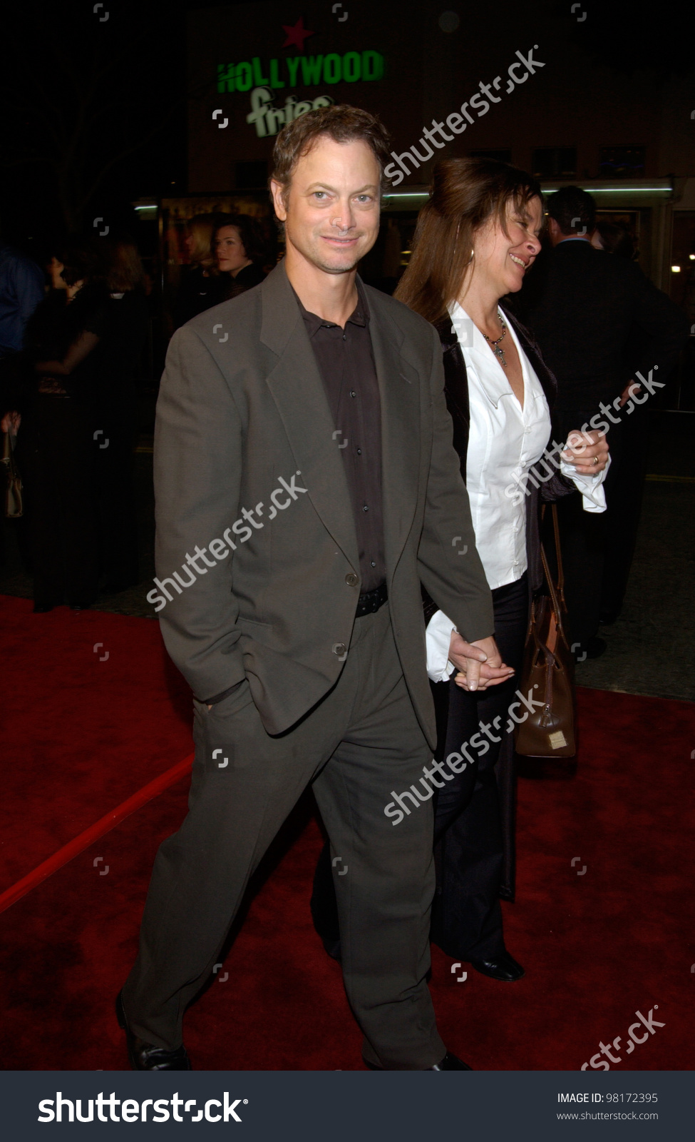 Actor Gary Sinise & Wife At The World Premiere, In Los Angeles, Of.