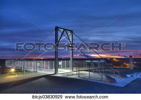 """Stock Photograph of """"Viewing platform, Garzweiler II open."""