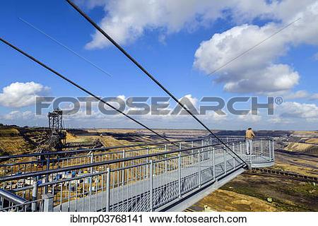 "Stock Photography of ""Viewing platform, Garzweiler II mining area."