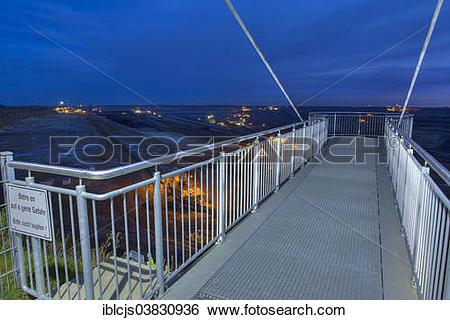 """Stock Images of """"Viewing platform, Garzweiler II open."""