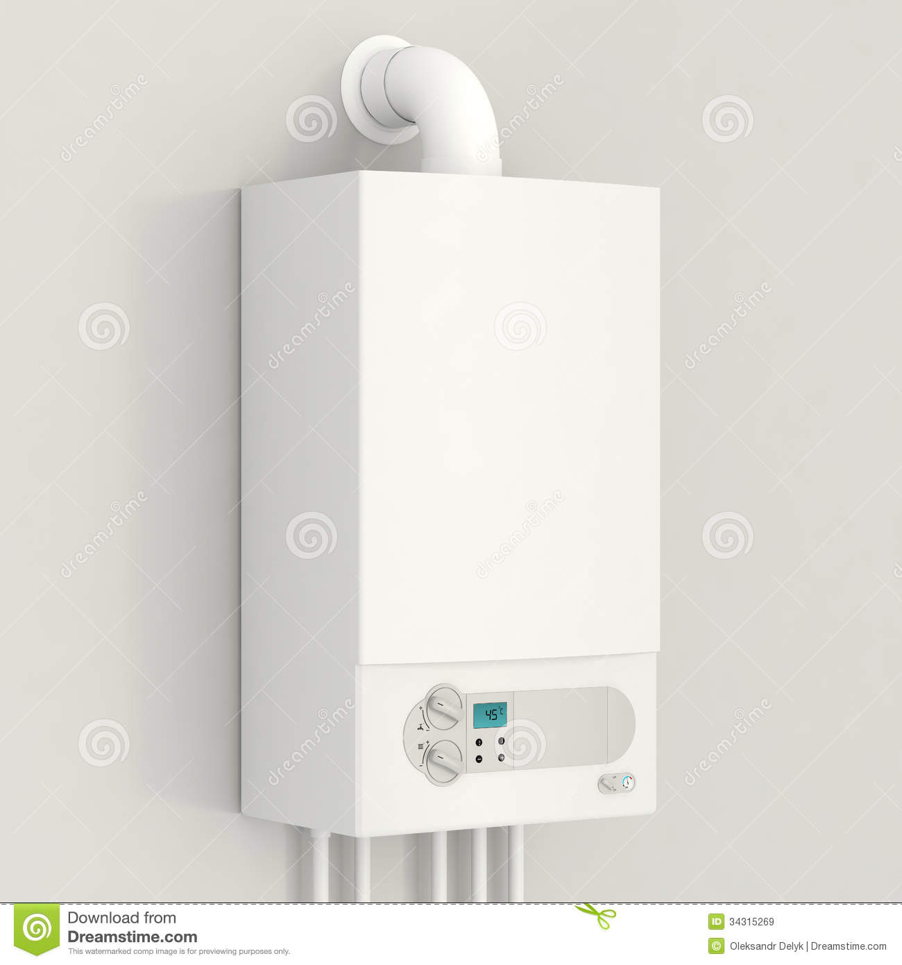 White Gas Boiler. Royalty Free Stock Images.