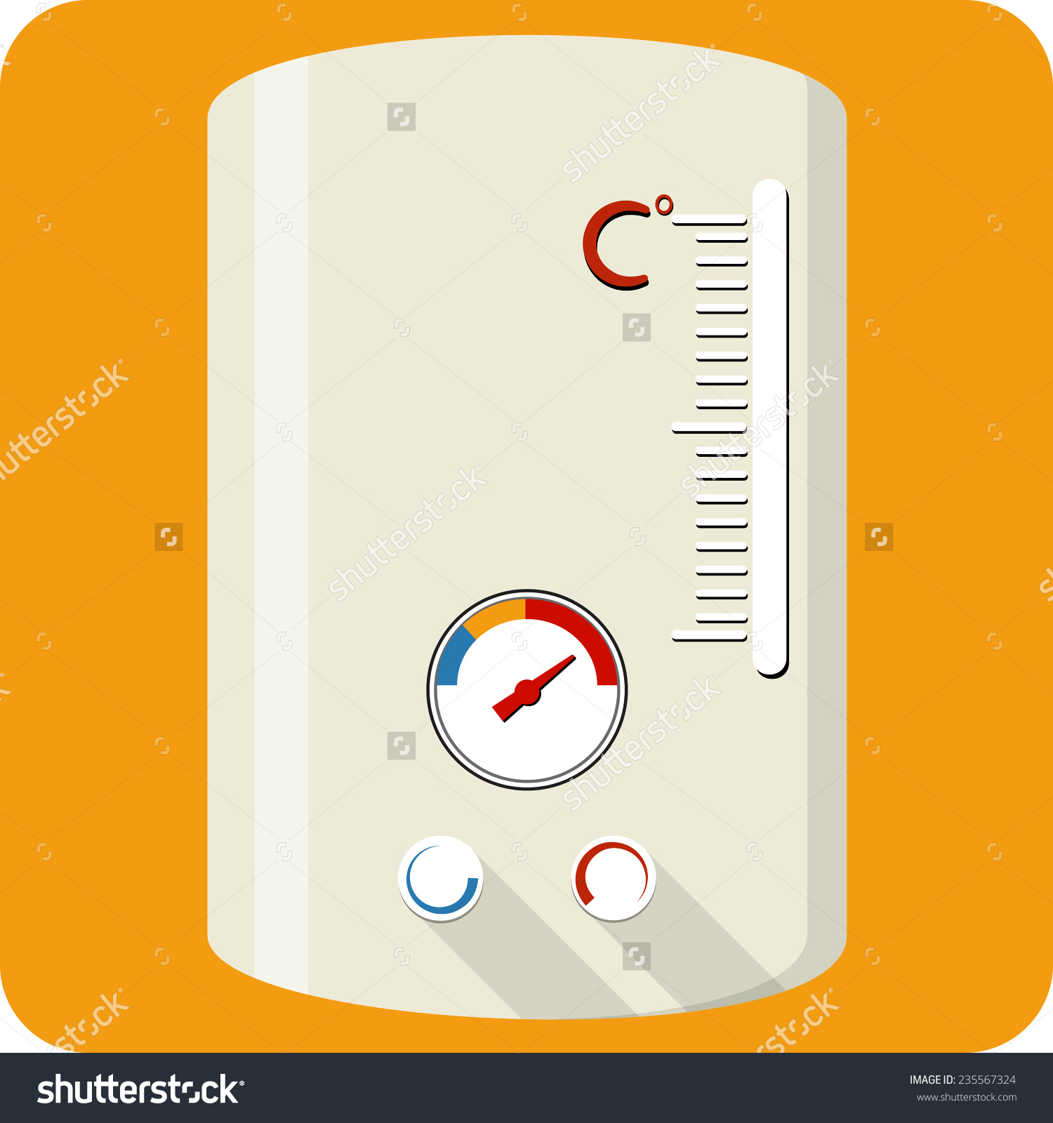 Vector Gas Boiler Stock Vector 235567324.