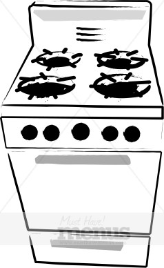 Gas stove clipart.