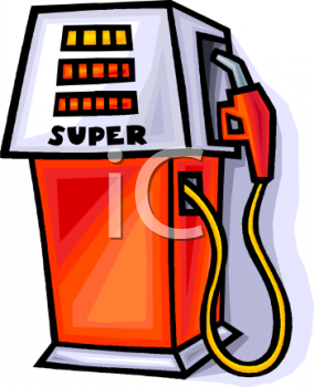 Royalty Free Clipart Image: Modern Gas Pump.