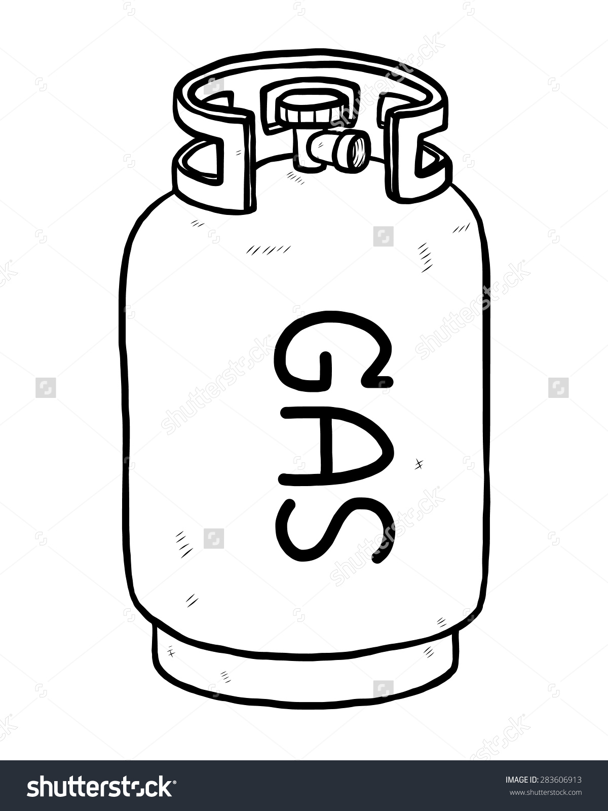 Gas Cylinder Clipart Black And White.