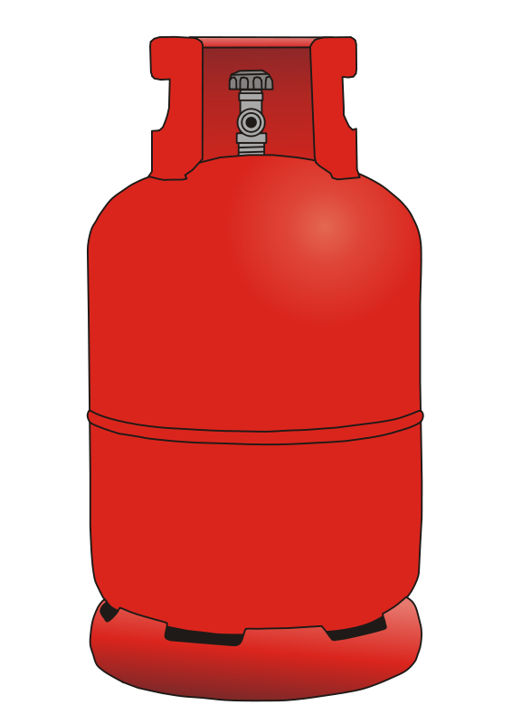 Free Clipart: Gas bottle 12 kg.