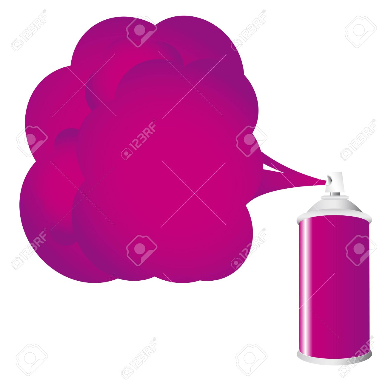 Purple Spray Bottle With Gas Cloud Royalty Free Cliparts, Vectors.