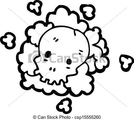 Clip Art Vector of cartoon death gas cloud csp15555260.