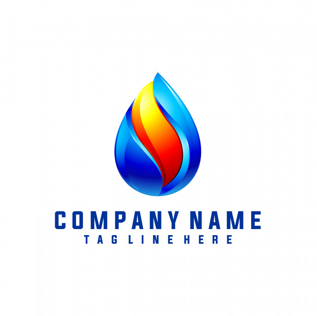 Oil and gas logo design with 3d look Vector.