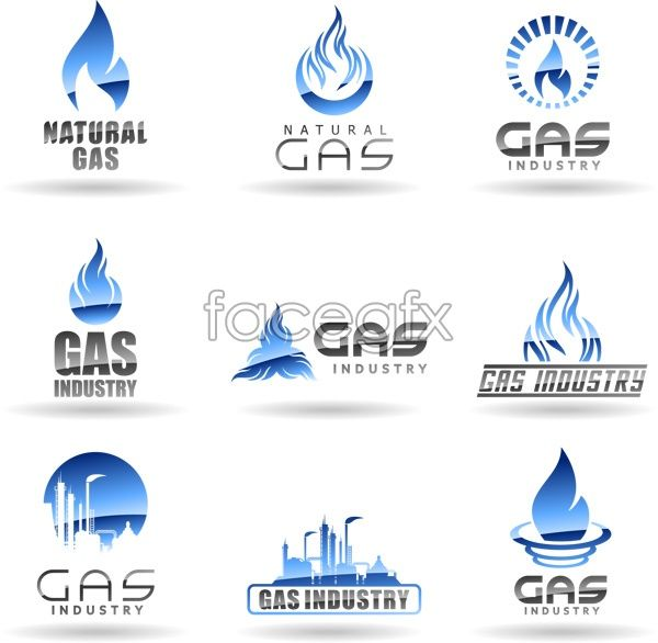 Natural gas company logo vector free download. File include.