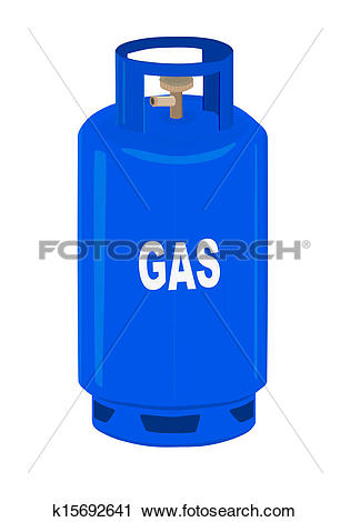 Clipart of Propane gas cylinder. k15692641.
