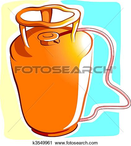 Clipart of Gas cylinder k3549961.