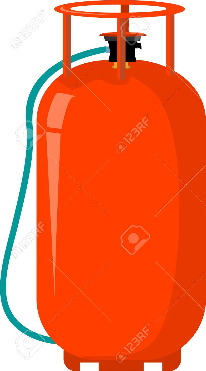 Cylinder gas clipart.