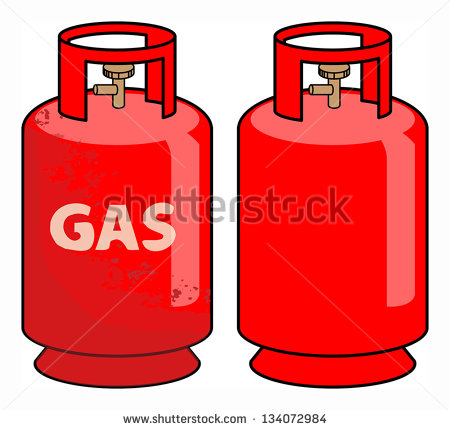 Gas Cylinder Clipart.
