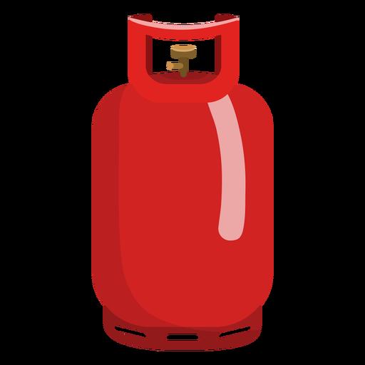 Red propane gas tank illustration.
