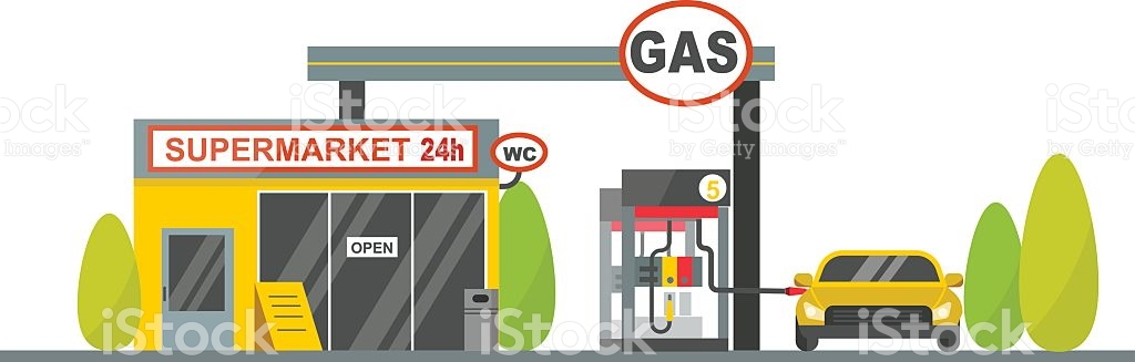 Gas Oil Station Vector stock vector art 613034816.