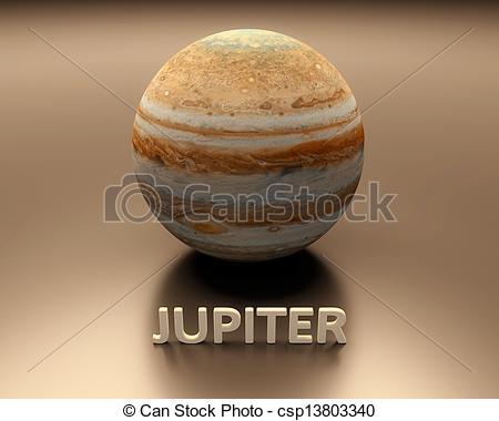 Drawing of Planet Jupiter.