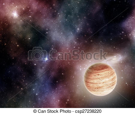 Clip Art of gas giant.