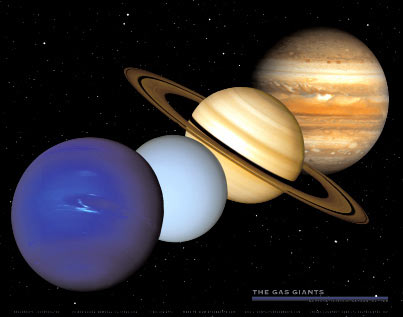 Spaceshots: Gas Giants Poster.