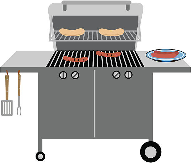 Best Gas Grill Illustrations, Royalty.